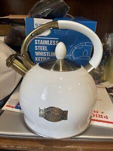 Susteas Stove Top Whistling Tea Kettle-Surgical Stainless Steel Teakettle Teapot