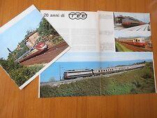 1977 TEE 20 ANNI TRANS EUROP EXPRESS DATI TRENI SERVIZIO FERROVIA ITALIA EPOCA