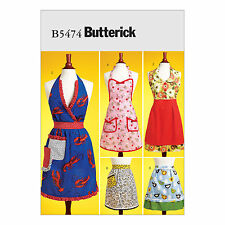 Butterick 5474 Sewing Pattern for Aprons in a mix of styles Half & Full Size S-L