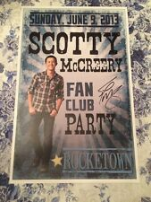 Scotty McCreery Autographed Fan Club Party Poster 2013