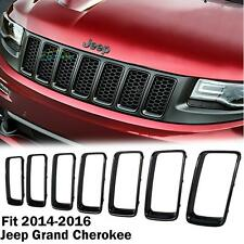 Front Grille Vent Hole Trim Ring Insert BLK For 2014-2016 Jeep Grand Cherokee