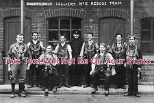 DR 137 - Shirebrook Colliery No. 2 Rescue Team, Derbyshire c1912 - 6x4 Photo