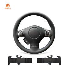 Black PU Leather Steering Wheel Cover for Subaru Forester Legacy Impreza Exiga