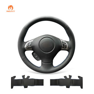 Black PU Leather Steering Wheel Cover for Subaru Forester Legacy Impreza Exiga