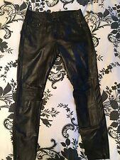 Muubaa Real Leather Skinny Trousers Uk 12 Verona Rrp £250