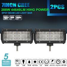 """7'' 288W Cree LED Light Bar Floodlight Tri-Row Offroad Fog 4WD SUV 12""""/16""""/19''"""