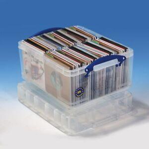 "Really Useful Box 21 Liter XL - Aufbewahrung ca. 200 – 210 7"" Vinyl Singles"