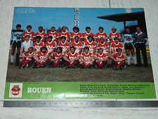 CLIPPING POSTER FOOTBALL 1982-1983 FC ROUEN ROBERT-DIOCHON DIABLES ROUGES