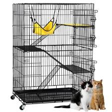 48.4-inch Metal Ferret Chinchilla Cage Indoor Outdoor Small Animals