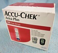 ACCU-CHEK AVIVA PLUS 100 DIABETIC TEST STRIPS exp 08/31/2021