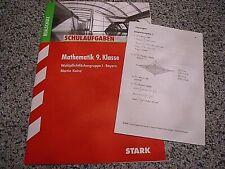 Mathematik  9  I Schulaufgaben  RS  Stark   neu  unbenutzt