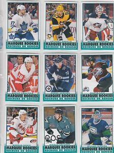 2020-21 O PEE CHEE RETRO MARQUEE ROOKIES 10 DIFFERENTS CARDS  LOT11    a