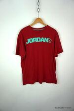 Air Jordan Brand Logo Spellout T-Shirt Red / Mint Green Sz Men's XL