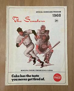VINTAGE 1968 NEW YORK YANKEES @ WASHINGTON SENATORS PRESEASON BASEBALL PROGRAM