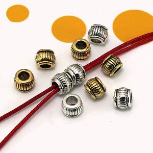 Metal  Spacer beads Tibetan Silver Craft  Big Hole Finding  Jewelery