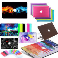 """Rubberized Hard Case Shell +Keyboard Cover for Macbook Pro 13/15""""/13""""inch 12inch"""