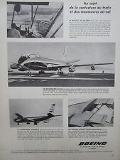 4/1958 PUB BOEING 707 720 AIRLINER BOAC TWA VARIG CUBANA AIRLINES FRENCH AD