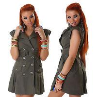 vestito donna mini abito corto taglio trench doppiopetto taglie S,M,L