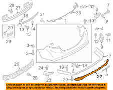 FORD OEM 13-18 Fusion Rear Bumper-Lower Trim Panel DS7Z17K922AA