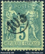 FRANCE TYPE SAGE N° 75 BELLE OBLITERATION JOUR DE L'AN ENCERCLEE N° 103 A VOIR