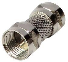 Connecteur raccord coupleur fiche F mâle-mâle coaxial satellite antenne tv télé