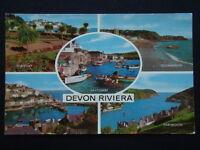 Devon Riviera Torquay Salcombe Teignmouth Brixham Dartmouth 1973 Postcard (P235)