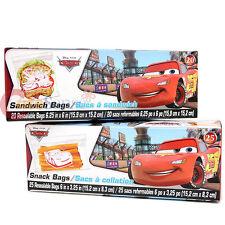 Disney Cars Mcqueen 45pc Sandwich Bags  Snack Bags Set Lunch Food Zip Bag