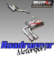 """Milltek SSXVW045 Audi A3 2.0T FSI Quattro Exhaust 5 DOOR Cat Back RES 2.75"""" & EC"""