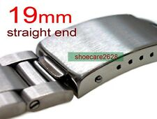 19mm Straight End Solid Steel Link Replacement Watchband For Vintage Watches