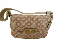 Coach Handbag Kristen OP Art Sequined White with Peony L@@K !