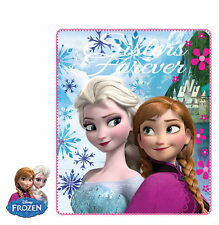 Disney Frozen Fleece Throw Blanket Elsa Anna Pink Blue  Bedroom Cover Soft 140cm