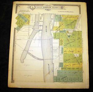 City of Saginaw & Environs sec 35 or sec 34N & 33E Michigan 1916 Plat Map