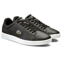 Lacoste Men's Carnaby Evo LCR SPM Trainers Leather Shoes 7-31SPM0095024 Black
