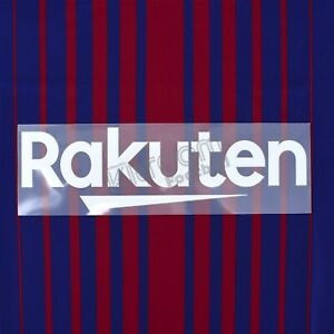 2017-20 Barcelona Rakuten Home Player Issue Sponsor Patch Sporting ID for Shi...
