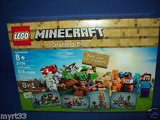 LEGO 21116 Minecraft Crafting Box  accessory kit w/ Steve mini figure sealed