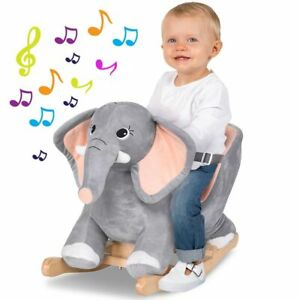 Cavallo a Dondolo Cavalcabile Peluche Giocattolo per Bambini con Effetti Sonori