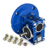Worm Gear 15:1 63C Speed Reducer Gearbox Dual Output Shaft 0.38HP NMRV030 Unique