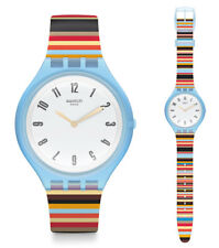 Swatch Skin skinstripes Reloj svul100 Análogo SILICONA DE COLORES