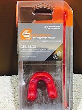 Shock Doctor Youth Gel Max Convertible Mouthguard 6143Y, Red - Dk31F1