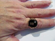 Black Onyx Great Style 8 grams Not Scrap Vtg Men's 10K Gold Signet Ring Sz 10.75