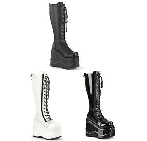 Demonia WAVE-200 Women's Knee High Boots
