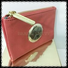 Mimco Leather MIM PETITE FOLD WALLET PURSE BRAND NEW  ROSEGOLD APRICOT