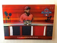 CARL CRAWFORD 2011 TOPPS TRIPLE THREADS SP ALL-STAR PATCH RELIC /9 RAYS DODGERS