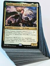 ***Custom Commander Deck*** Tolsimir, Friend to Wolves - Wolf Tribal Magic Cards