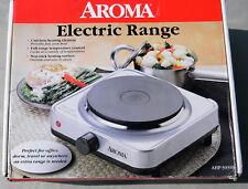 AROMA ELECTRIC RANGE SINGLE BURNER Hot plate stainless steel HOME OFFICE DORM
