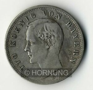 BAYERN, Otto, 2 Mark, 1896 D, Jg. 45, schön/sehr schön
