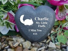 Pet Memorial - Heart - Weatherproof - Personalised - Chinchilla