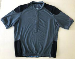 Kitsbow Cycling Jersey. Mens XXL. Blue. Short Sleeve. Merino/Nylon blend. Ex Con