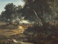 JEAN BAPTISTE CAMILLE COROT FOREST FONTAINEBLEAU OLD ART PAINTING POSTER BB5813A