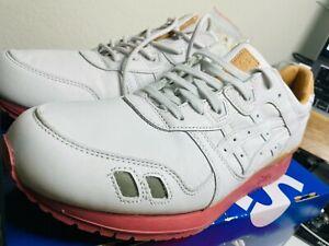 Asics X Packer / Gel Lyte III / Cream, Tan, Pink Leather / 11 / J7F3K